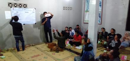Pemilihan Wakil Ketua Sub Karangtaruna Dusun Kajorwetan Pencoblosan Calon