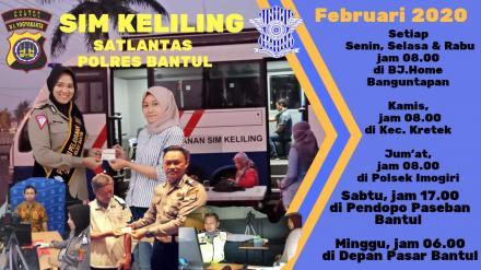 Jadwal SIM Keliling Polres Bantul Februari 2020