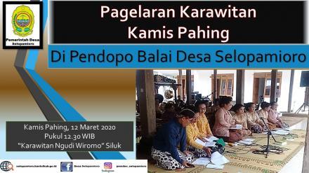 Kamis Pahingan untuk Kestimewaan Yogyakarta Bulan Maret